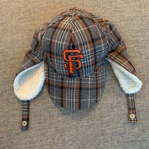 SF Giants Two-flap hat, new!